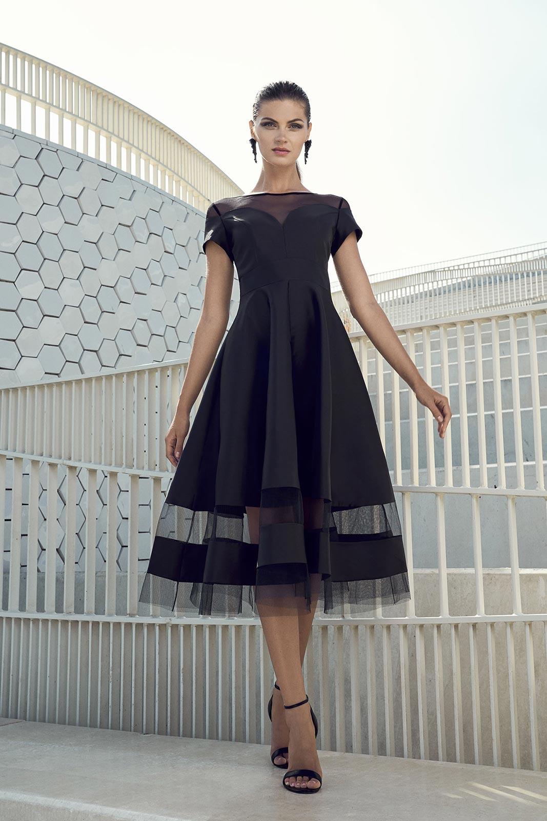 19f052a42 Vestido fiesta capa negro tul