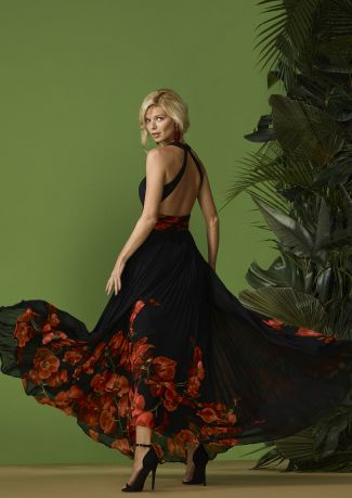 Vestido plisado gasa estampado floral