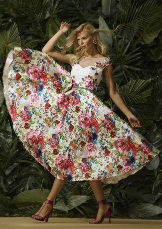 Vestido fiesta estampado floral